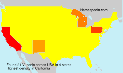 Surname Vucenic in USA