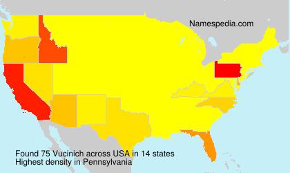 Surname Vucinich in USA