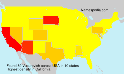 Surname Vucurevich in USA
