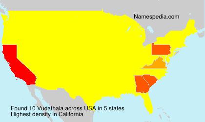 Surname Vudathala in USA