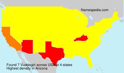 Surname Vuddagiri in USA