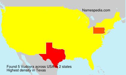 Surname Vudoyra in USA