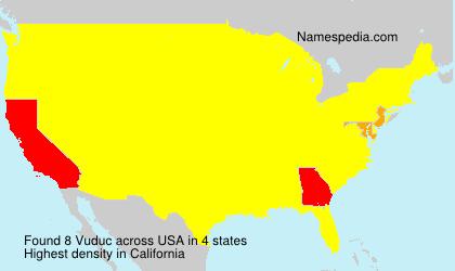 Surname Vuduc in USA