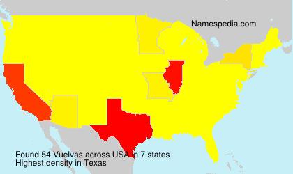 Surname Vuelvas in USA