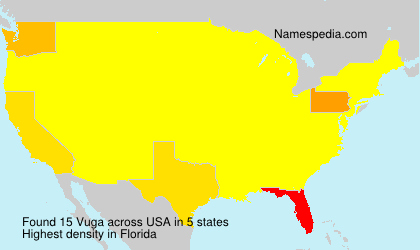 Surname Vuga in USA