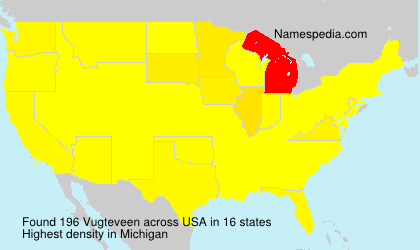 Surname Vugteveen in USA