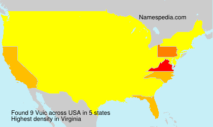 Surname Vuic in USA