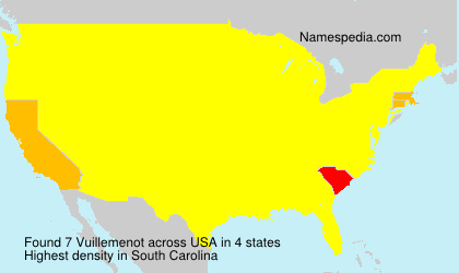 Surname Vuillemenot in USA