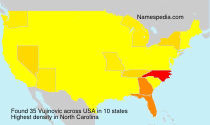 Surname Vujinovic in USA
