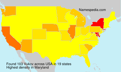 Surname Vukov in USA