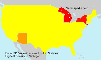 Familiennamen Vuljevic - USA