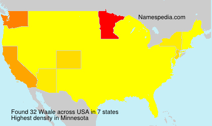 Surname Waale in USA