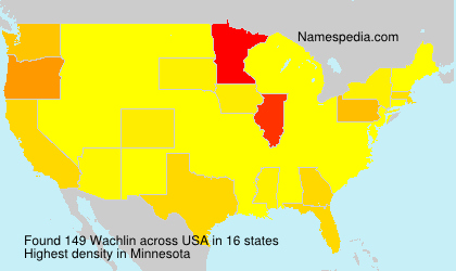 Surname Wachlin in USA