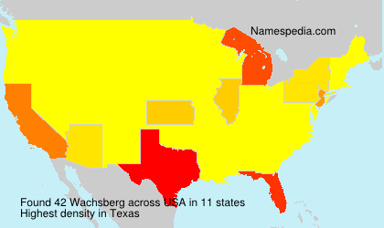 Surname Wachsberg in USA