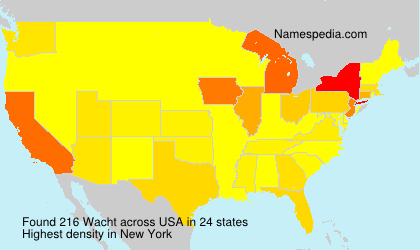 Surname Wacht in USA