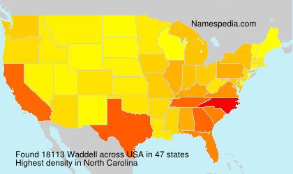 Familiennamen Waddell - USA
