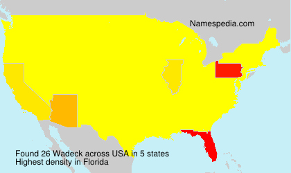 Surname Wadeck in USA