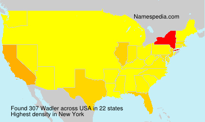 Surname Wadler in USA
