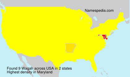 Surname Wagah in USA
