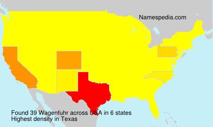 Surname Wagenfuhr in USA