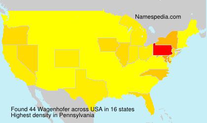 Surname Wagenhofer in USA