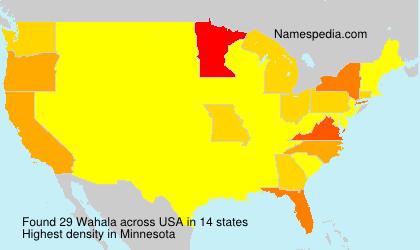 Familiennamen Wahala - USA