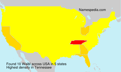 Familiennamen Waibl - USA