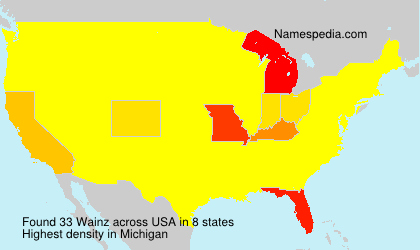 Surname Wainz in USA