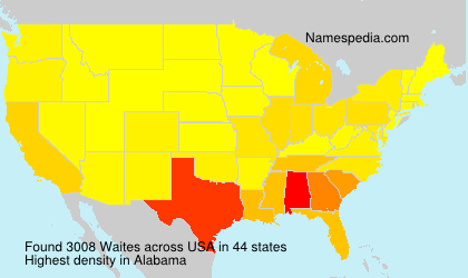 Surname Waites in USA