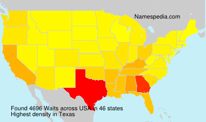 Surname Waits in USA