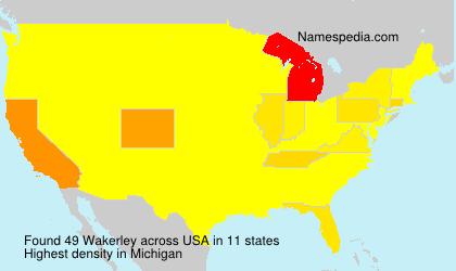 Familiennamen Wakerley - USA