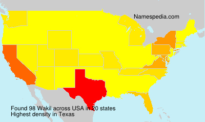 Surname Wakil in USA