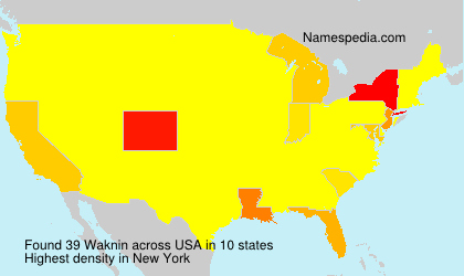 Surname Waknin in USA