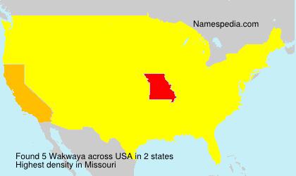 Familiennamen Wakwaya - USA