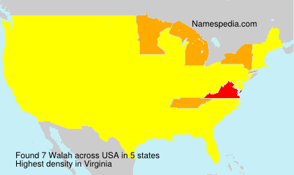 Surname Walah in USA