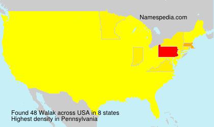 Familiennamen Walak - USA