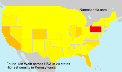 Surname Walb in USA