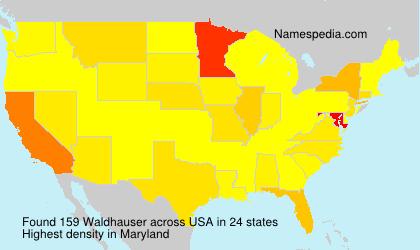 Familiennamen Waldhauser - USA
