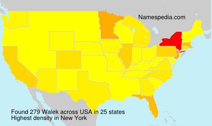 Surname Walek in USA