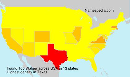 Familiennamen Walger - USA