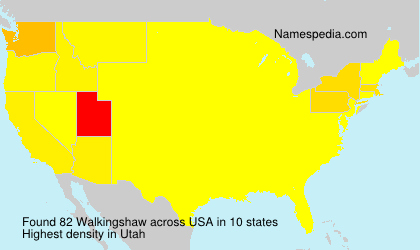 Surname Walkingshaw in USA
