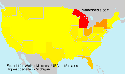 Surname Walkuski in USA