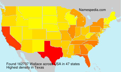 Surname Wallace in USA