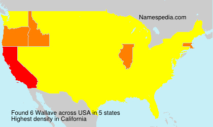 Surname Wallave in USA