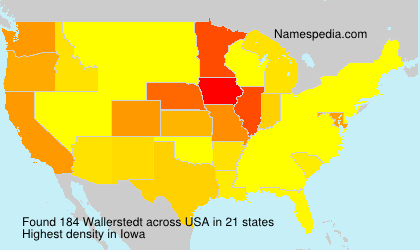 Surname Wallerstedt in USA