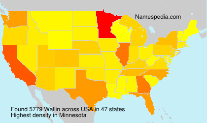 Surname Wallin in USA