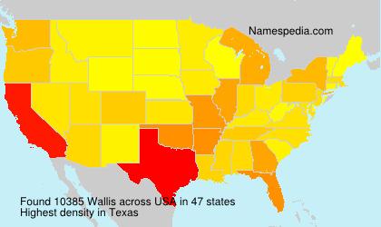 Surname Wallis in USA