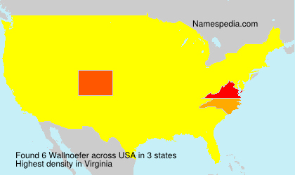 Surname Wallnoefer in USA