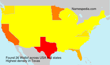 Surname Wallof in USA