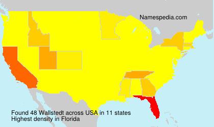 Familiennamen Wallstedt - USA